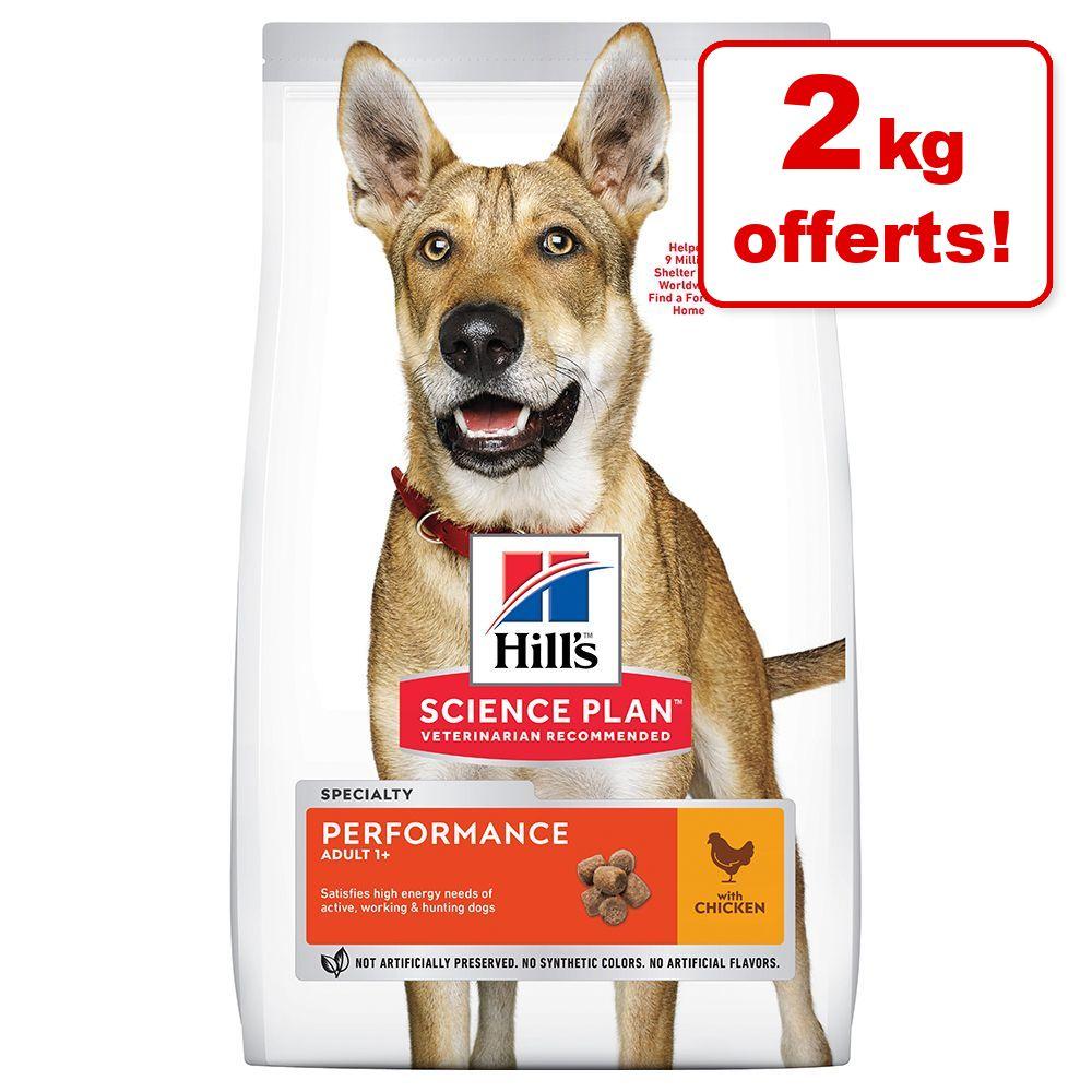 12 + 2 kg gratis! 14 kg Hill's Science Plan Hundefutter - Adult 1-6 No Grain Medium mit Huhn