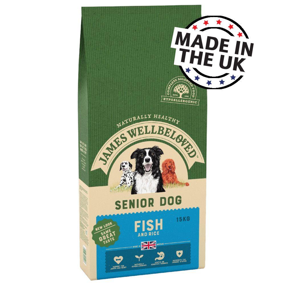 James Wellbeloved Senior Dog Fish & Rice Ekonomipack: 2 x 15 kg