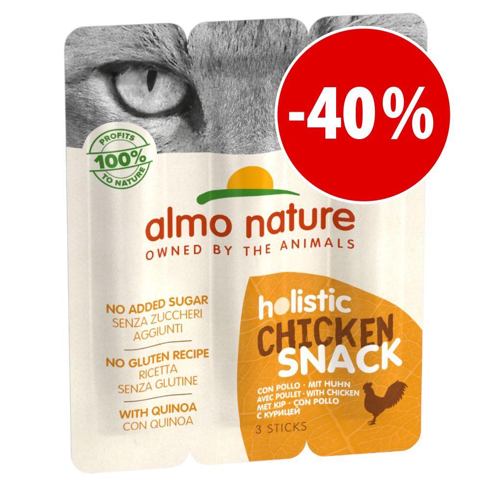 Image of Almo Nature Holistic Snack per gatti - Set %: 3 x 15 g con Pollo