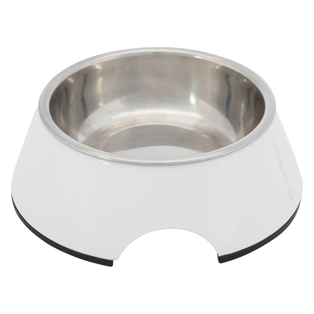 Trixie BE NORDIC melaminskål - 200 ml, ø 14 cm - vit