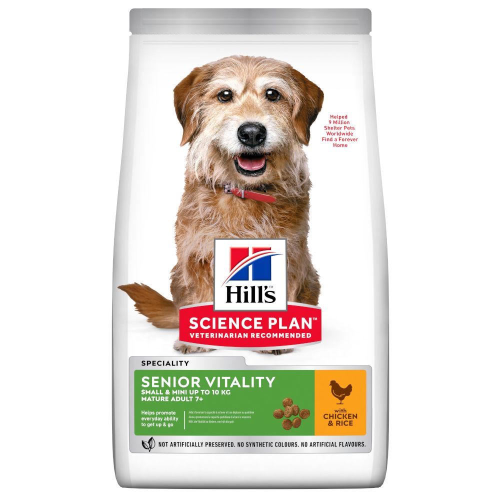 Hill's Science Plan Mature Adult Senior Vitality 7+ Small & Mini with Chicken - 6kg