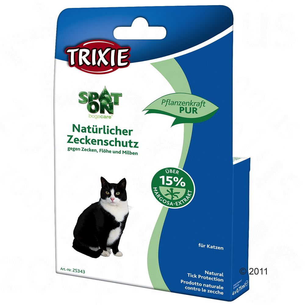 protection anti tiques trixie spot on pour chat 4 pipettes. Black Bedroom Furniture Sets. Home Design Ideas