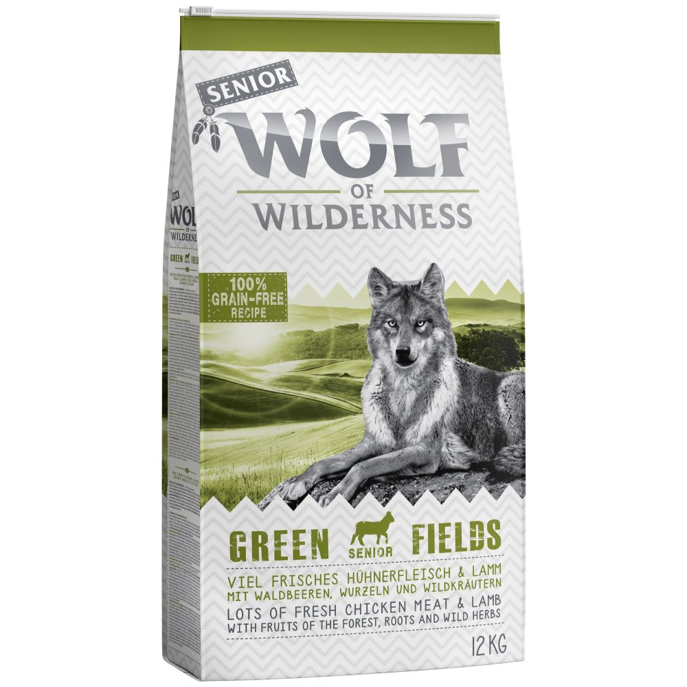 5kg Senior Lamb Green Fields Wolf of Wilderness Dry Dog Food