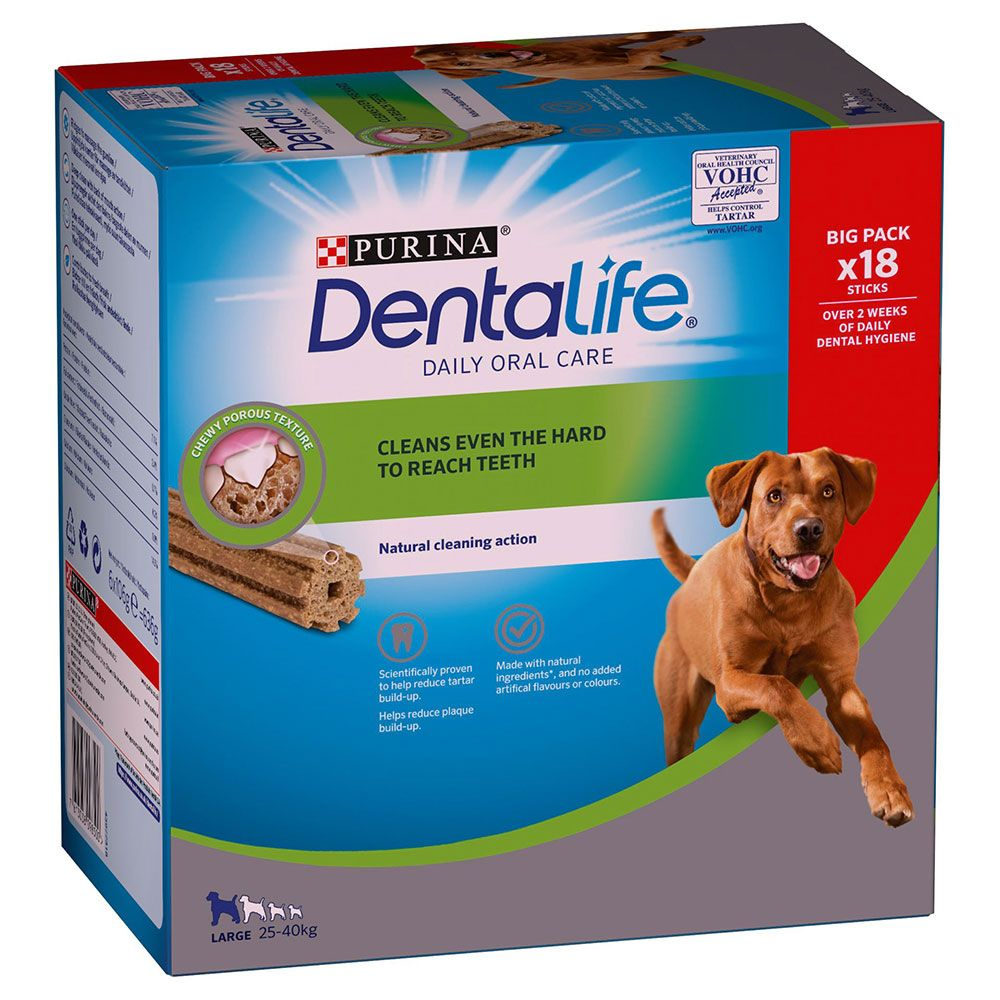 Image of Purina Dentalife Snack per igiene dentale dei cani di tg grande (25-40 kg) - 18 Stick (6 x 106 g)