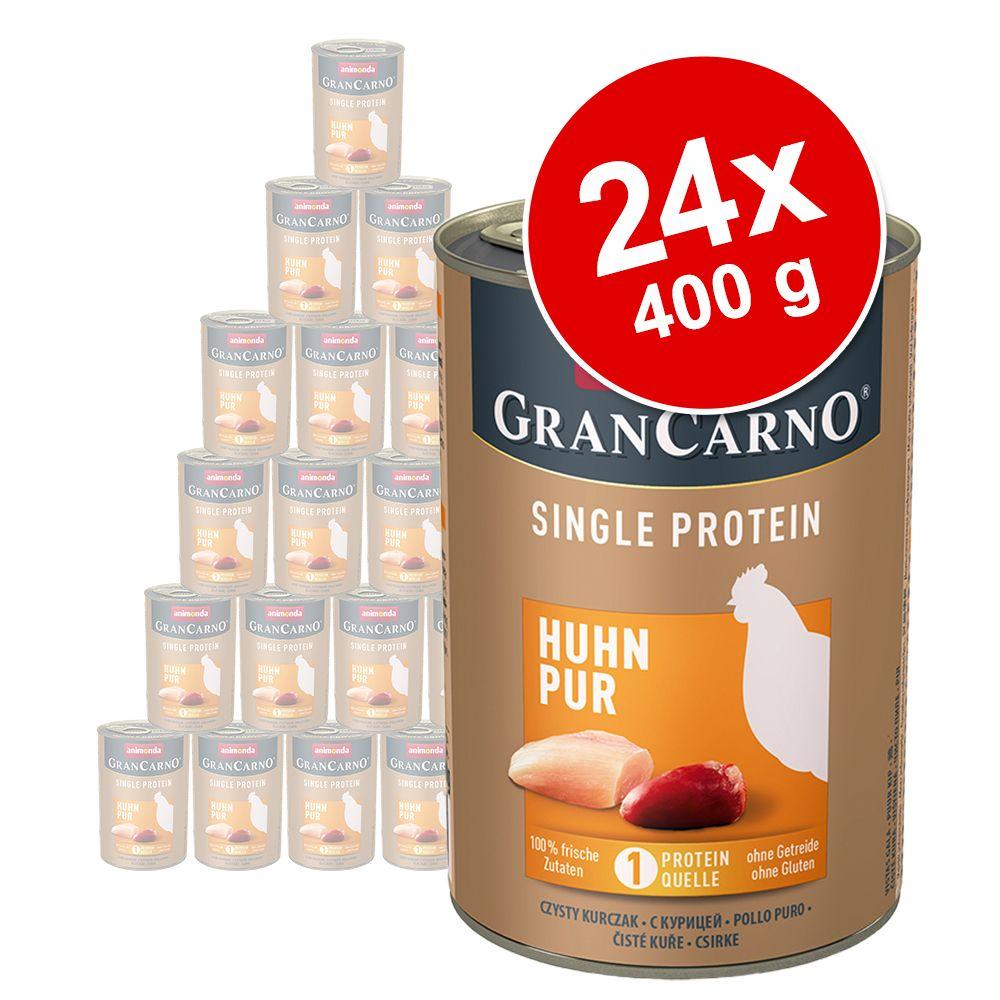Animonda GranCarno Adult Single Protein 24 x 400 g – Kyckling Pur