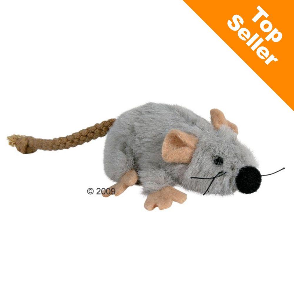 Souris en peluche avec menthe à chat - 1 souris