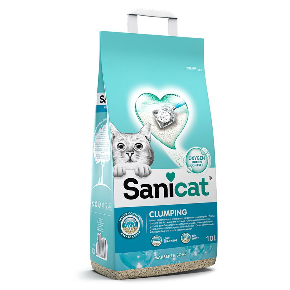 10 l Sanicat Marseille Soap klumpende kattegrus