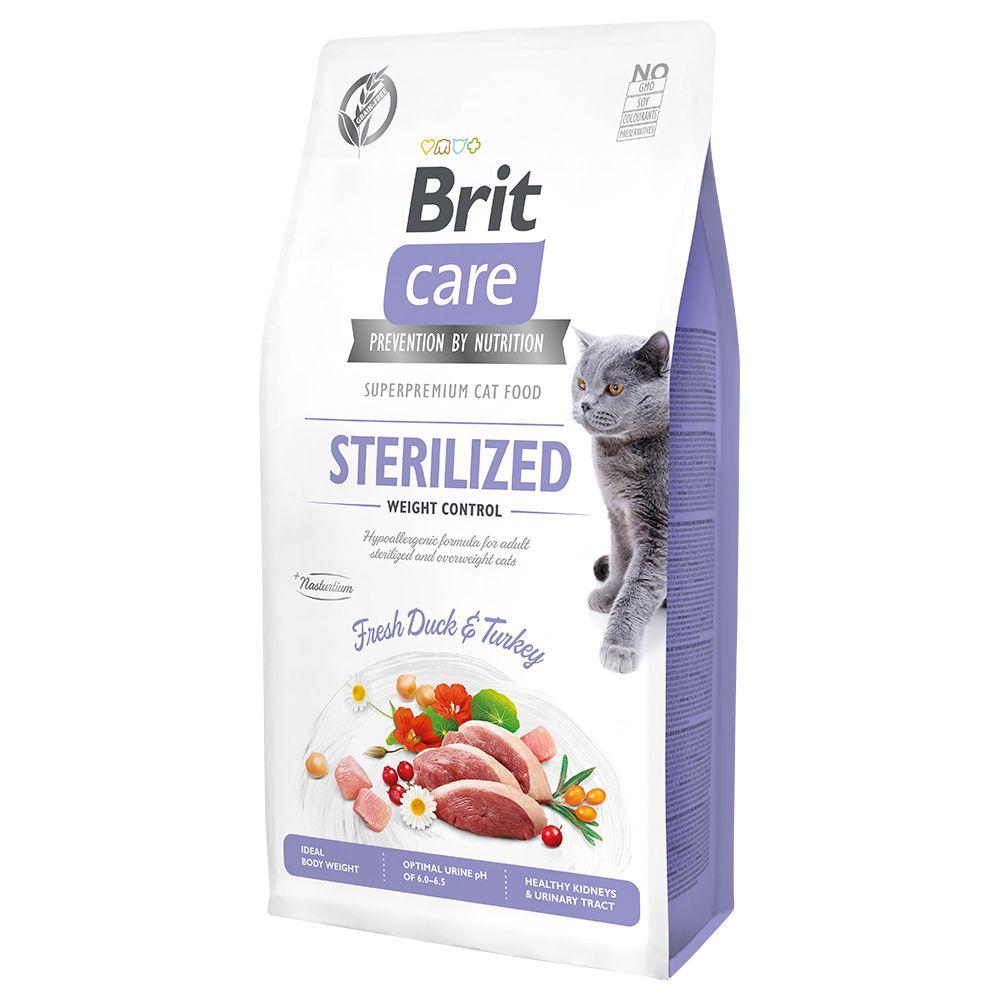 Brit Care Grain-Free Sterilized Weight Control pour chat - 7 kg