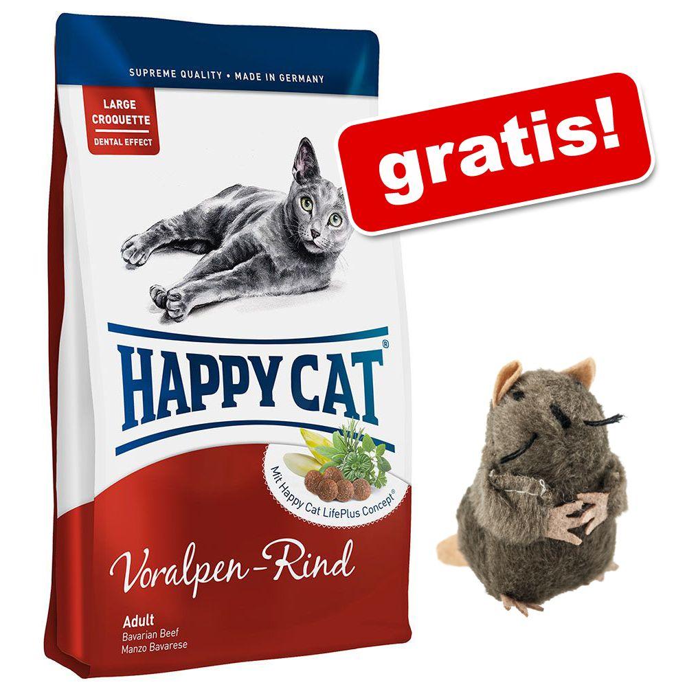 10 kg Happy Cat + en rolig leksaksmullvad på köpet! - Adult Atlantic Salmon