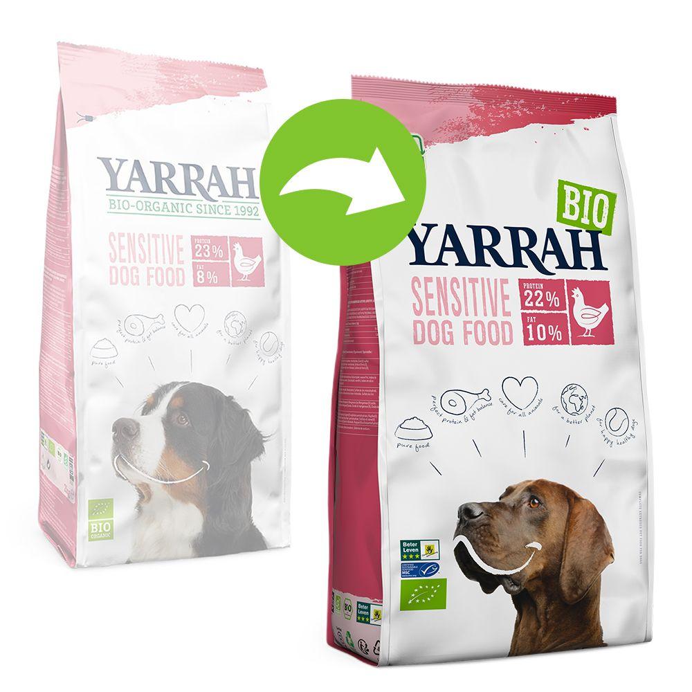 Yarrah Organic Sensitive med ekologisk kyckling & ris - Ekonomipack: 2 x 10 kg