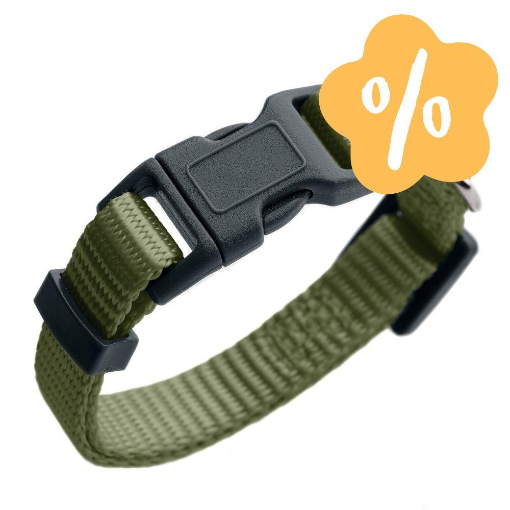 Image of Prezzo speciale! Collare Hunter London verde oliva - Vario Basic Tg.S: circonferenza 24-36 cm x H 10 cm