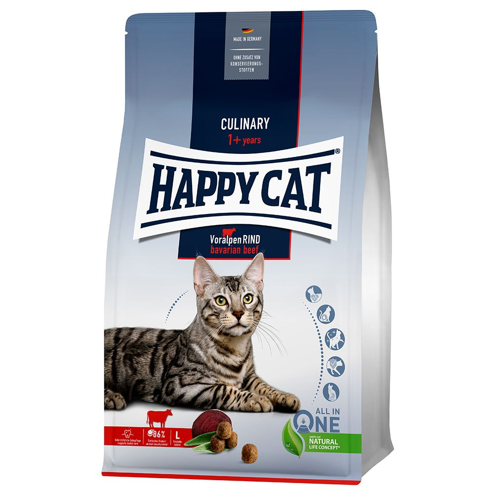 Happy Cat Culinary Adult Voralpen-Rind - Sparpaket: 2 x 10 kg