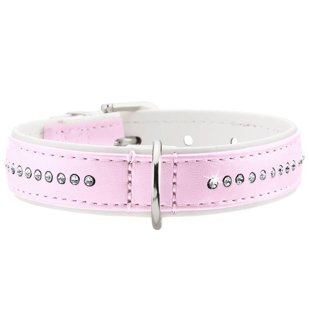 Str42 Modern Art Luxus lyserød/hvid HUNTER hundehalsbånd