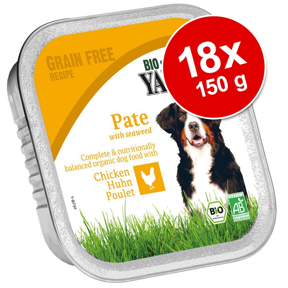 Ekonomipack: Yarrah Organic i portionsform 18 x 150 g - Paté: Nötkött med spirulina