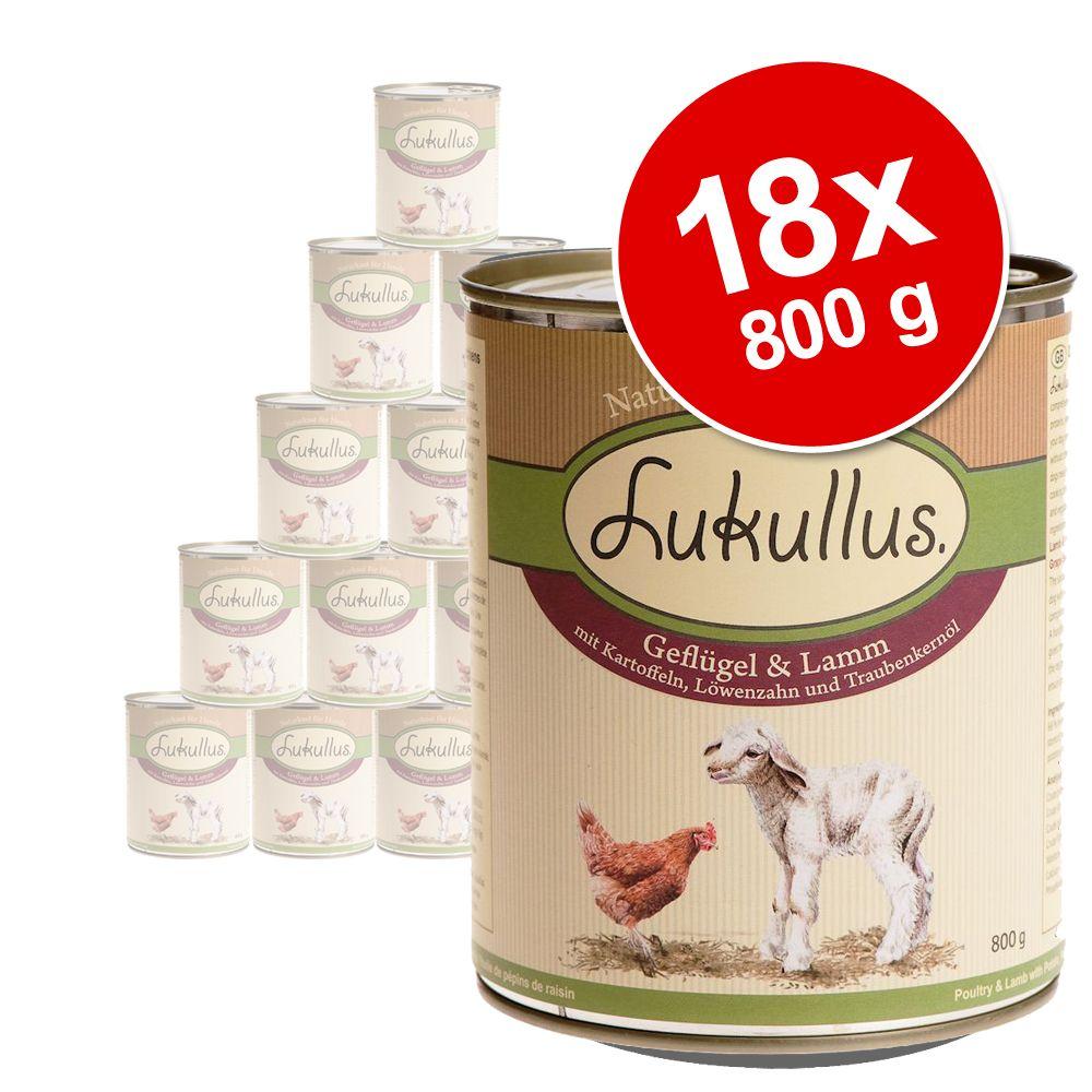 Foto 18 x 800 g Lukullus - Coniglio & Selvaggina Lukullus Adult