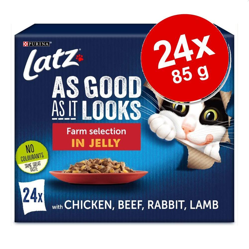 """Latz """"""""As good as it looks"""""""" Pouches 24 x 85 g - Kyckling, Lamm, Nötkött, Kanin"""