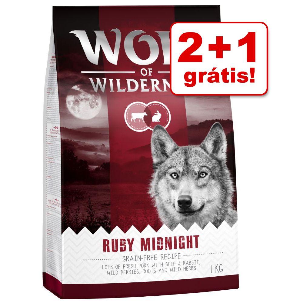 Wolf of Wilderness ração 3 kg em promoção: 2 kg + 1 kg grátis - Soft High Valley com vaca
