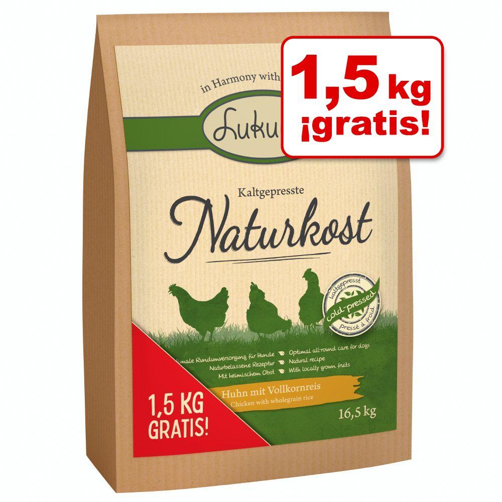 16,5 kg Lukullus Naturkost prensado en frío en oferta: 1,5 kg ¡gratis!  - 16,5 kg