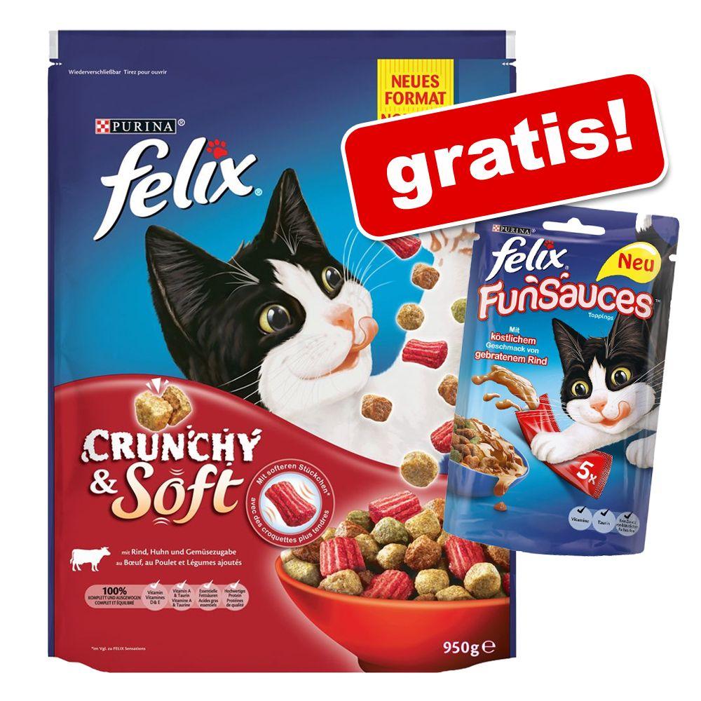 950 g Felix Crunchy & Soft + 5 x 15 g Felix Fun...