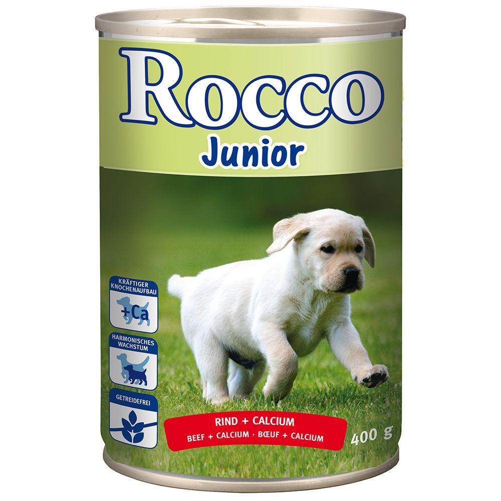Rocco Junior 6 x 400 g – Nötkött + kalcium