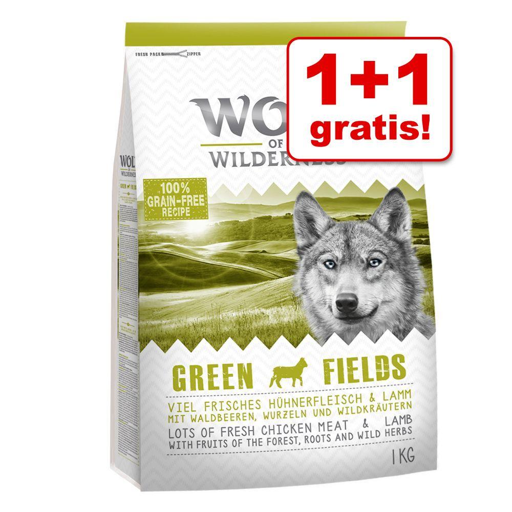 Image of 1 + 1 gratis! 2 x 1 kg Wolf of Wilderness - Adult Sunny Glade - Cervo