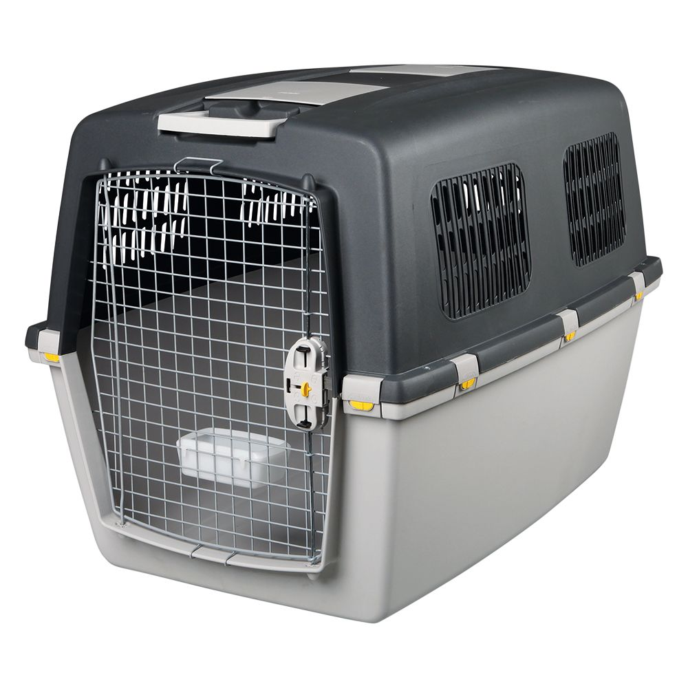 Trixie Gulliver Transport Crate provides your pet with extra safety on long and short journeys due to its lockable snap fasteners. Two large storage compartments o...