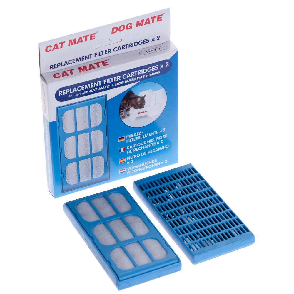 Cat Mate Pet Fountain Replacement Filters 2-Pack