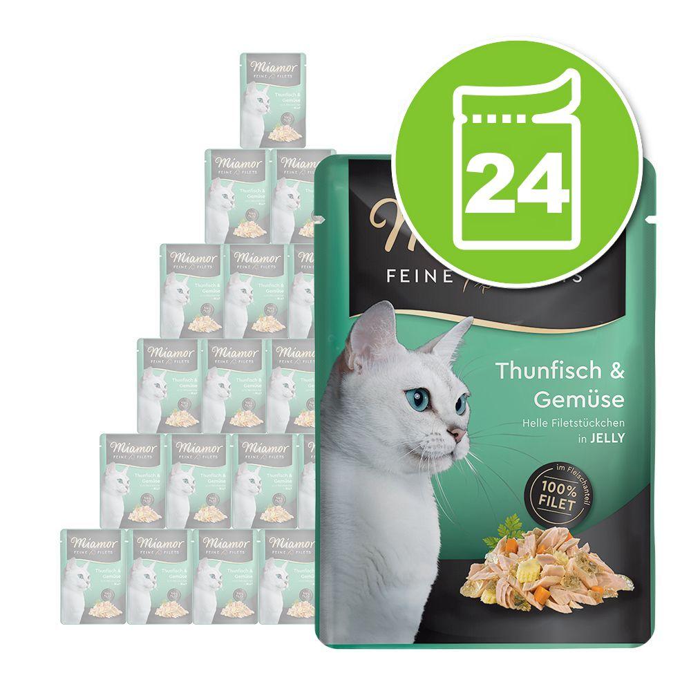 24x100g Filets fins thon, écrevisse Miamor - Nourriture pour Chat