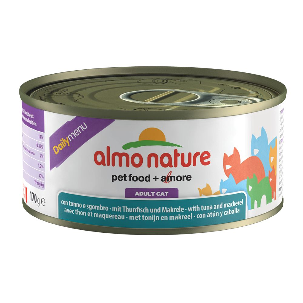 Almo Nature Daily Menu 170g - Tuna & Sardines (12 x 170g)