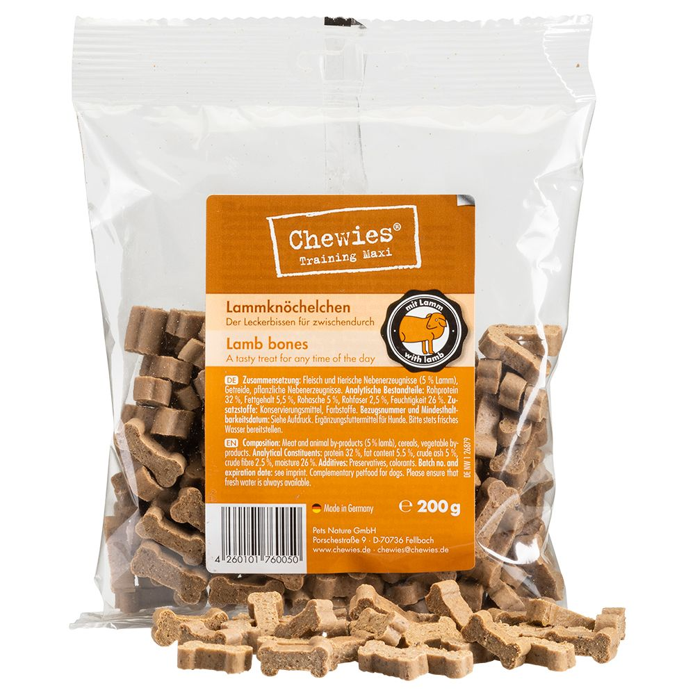 200g Chewies Lamb Dog Bone Treats