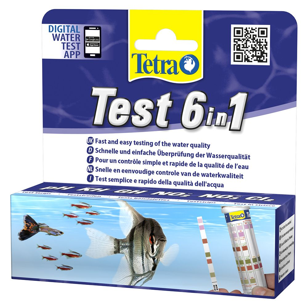 INOpets.com Anything for Pets Parents & Their Pets TetraTest 6 in 1 Water Test Strips - 25 Test Strips