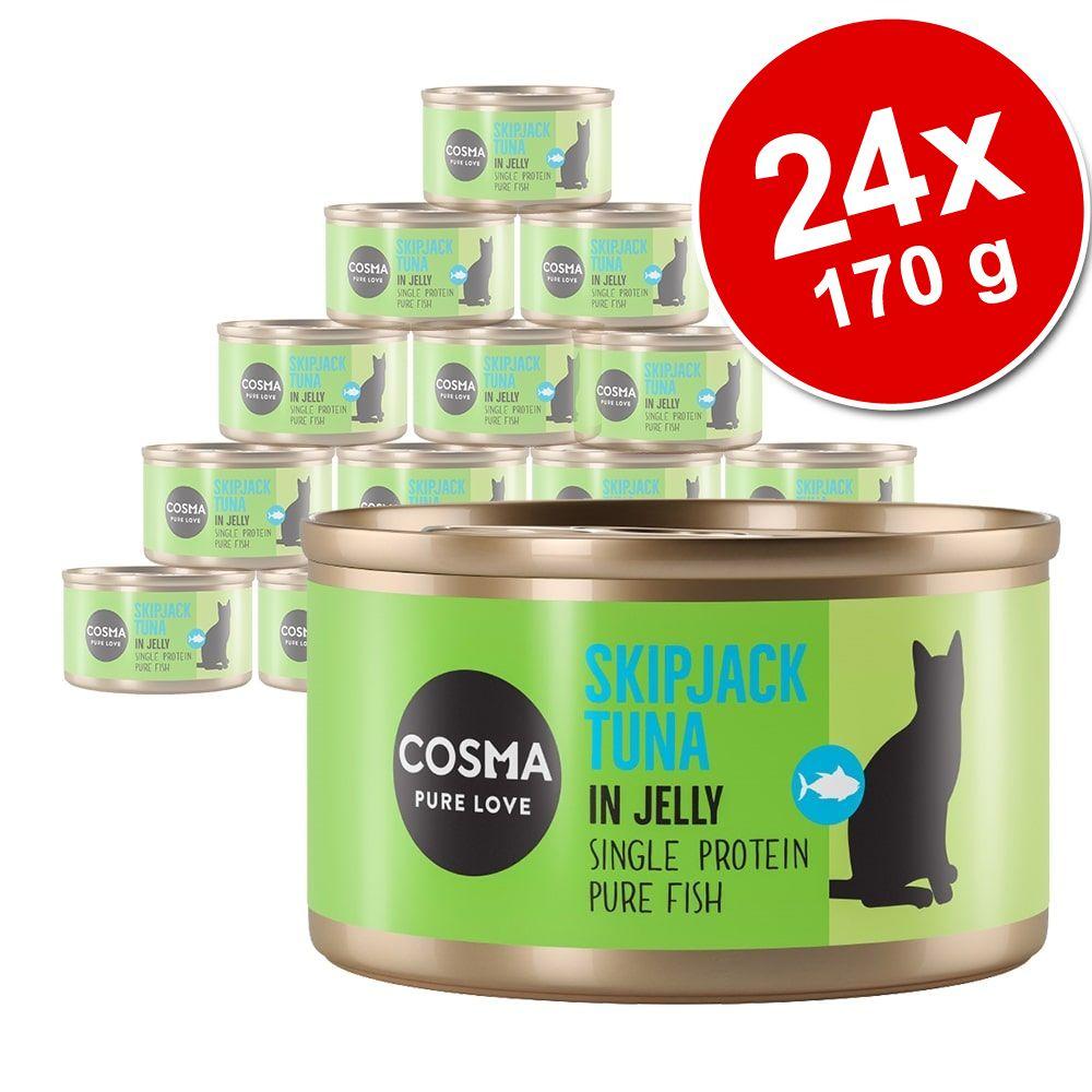 Ekonomipack: Cosma Original i gelé 24 x 170 g Skipjack tonfisk