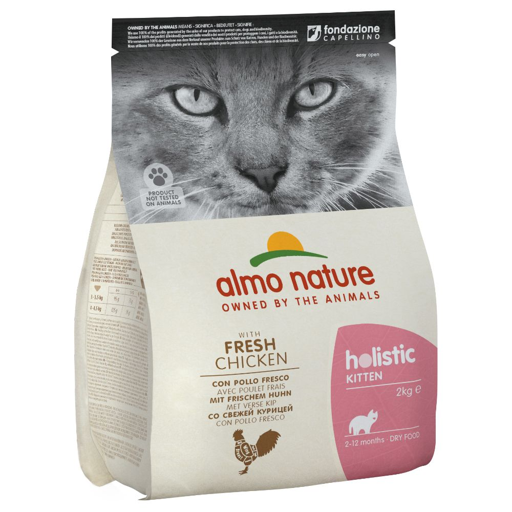 Almo Nature Holistic Kitten Chicken & Rice - Ekonomipack: 4 x 2 kg