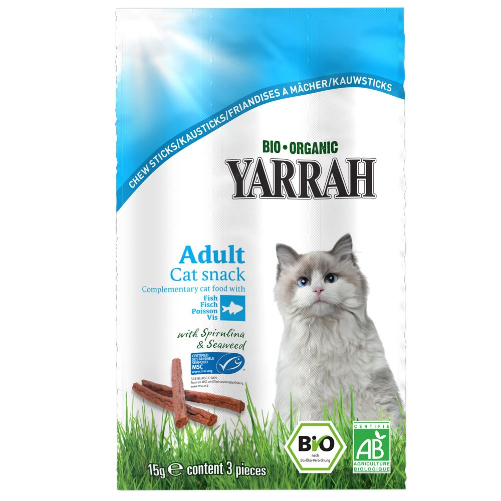 INOpets.com Anything for Pets Parents & Their Pets Yarrah Organic Chew Sticks with Fish - 15g Beef with Fish