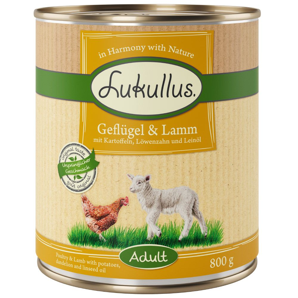 Lamb & Poultry Lukullus Wet Dog Food