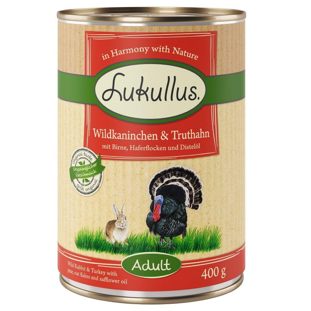 6 x 400g Lukullus Classic Wet Dog Food