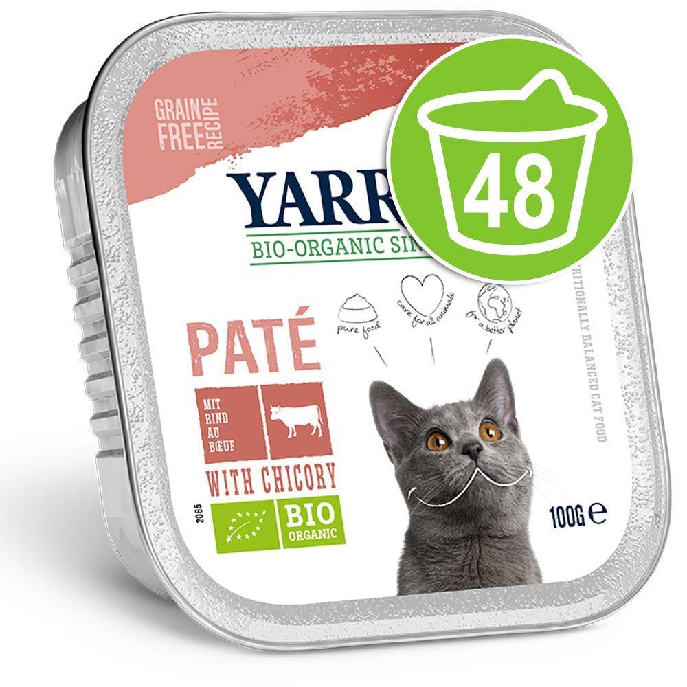 48x100g Yarah Bio Adult Boeuf/chicorée Pâté pour chat - Offre Promo
