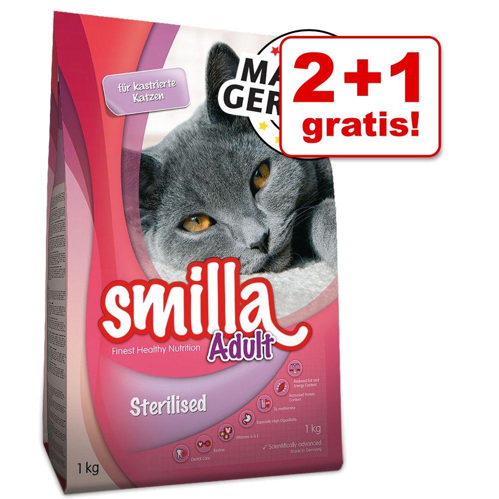 2 + 1 på köpet! 3 x 1 kg Smilla torrfoder - Kitten