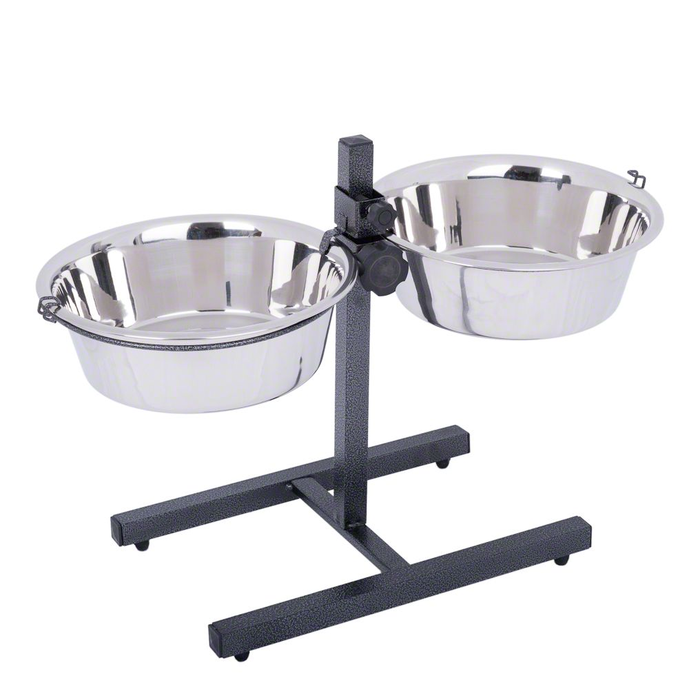 Dog Bowl Stand with 2 Stainless Steel Bowls - 2 x 4.2 litres