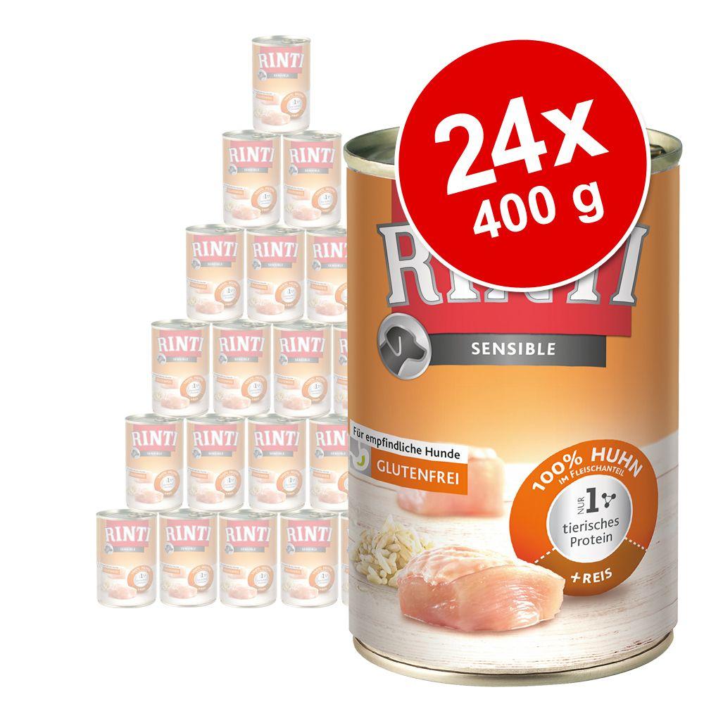 Sparpaket RINTI Sensible 24 x 400 g - Pute & Kichererbsen