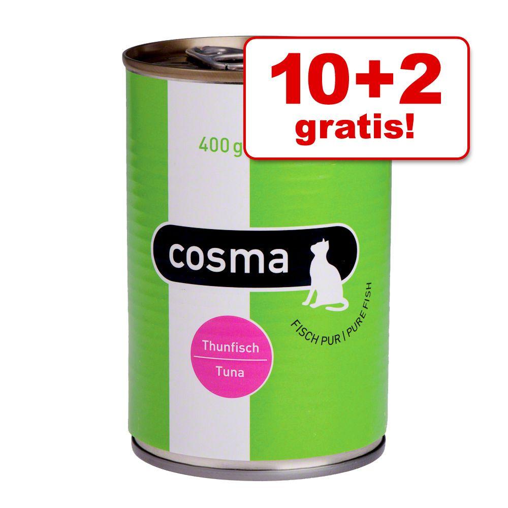 10 + 2 gratis! Cosma Original / Thai w galarecie, 12 x 400 g - Original: Tuńczyk