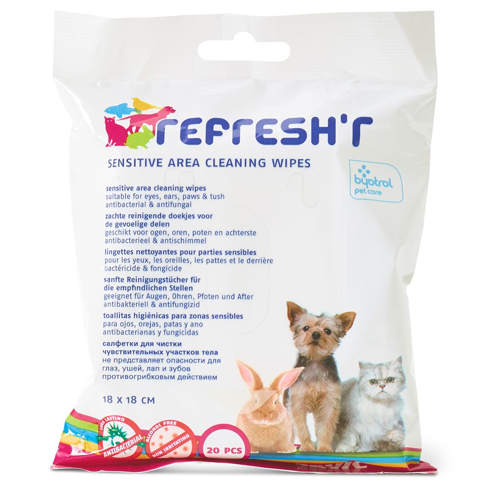 Lingettes désinfectantes Savic Refresh´r Sensitive - 3 x 20 lingettes