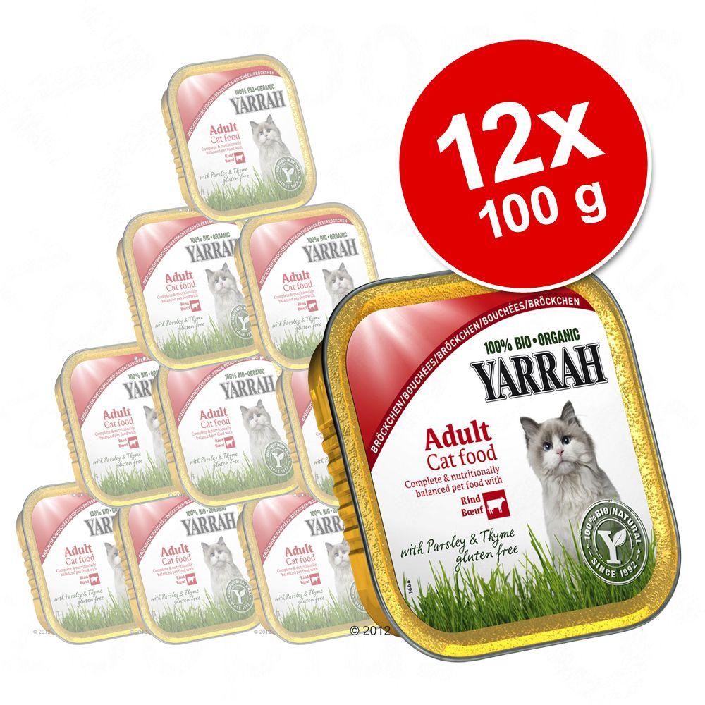 Korzystny pakiet Yarrah Bio kawałeczki w sosie, 12 x 100 g - Kurczak z indykiem