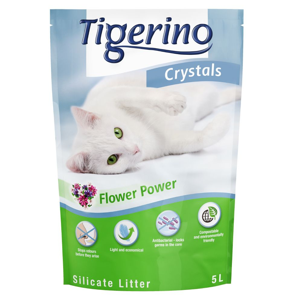 Tigerino Flower Power Crystals Cat Litter 6 x 5L