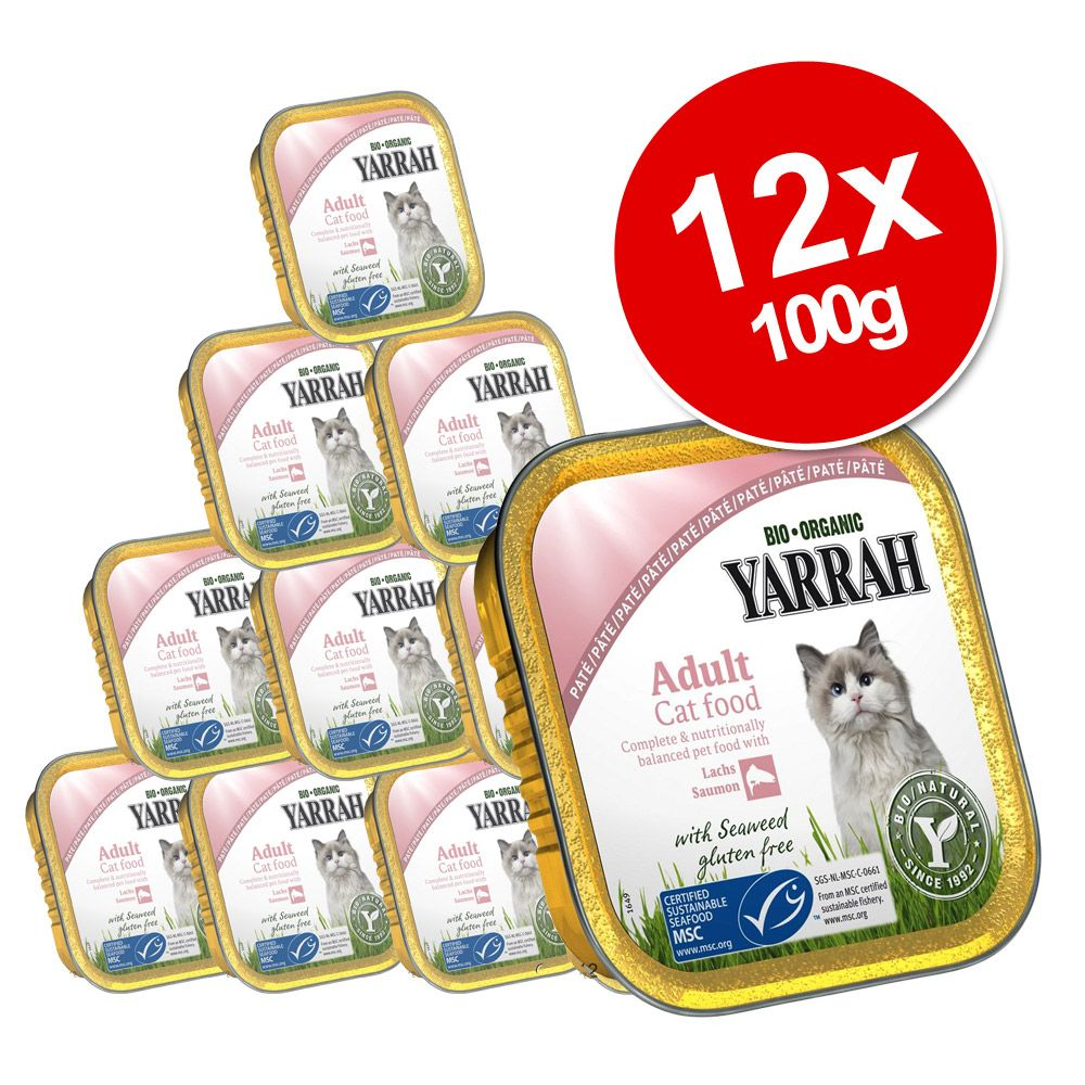 Korzystny pakiet Yarrah Bio Wellness Pâté, 12 x 100 g - Wołowina z cykorią