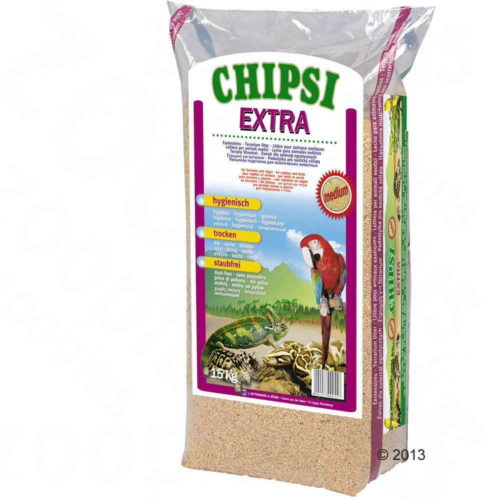 Chipsi Extra Buchenholzspäne - 15 kg, XXL-Körnung