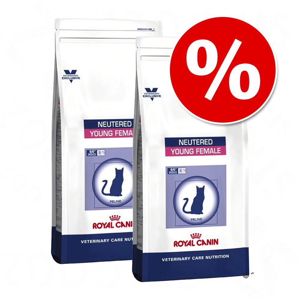 Ekonomipack: 2 x 10 kg Royal Canin Vet Care Nutrition - Neutered Young Female 2 x 10 kg