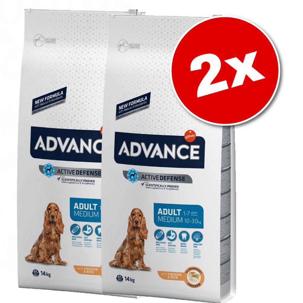 2x12kg Affinity Advance Medium Medium Light poulet - Croquettes pour chien