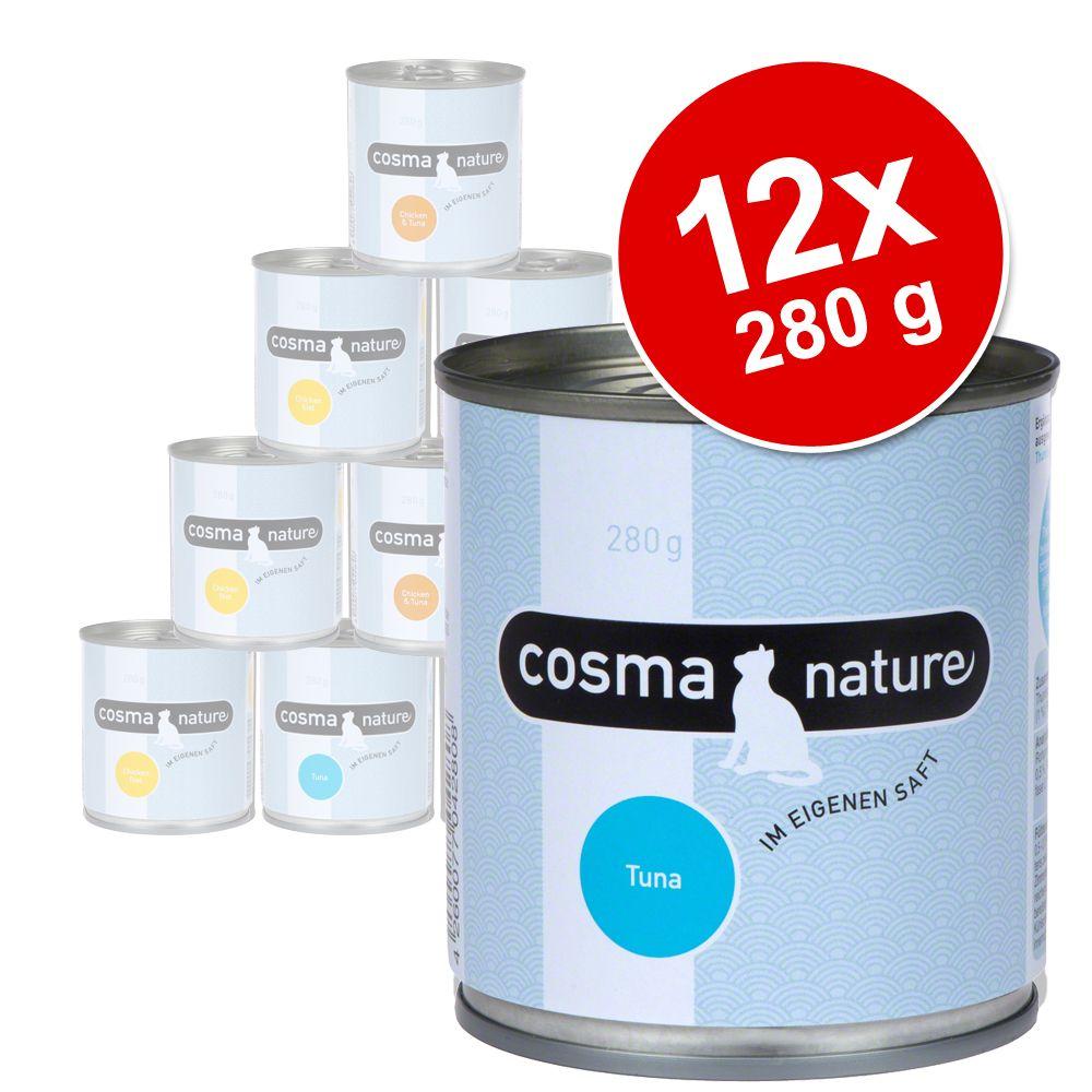 Pakiet Cosma Nature, 12 x 280 g - Kurczak i szynka drobiowa