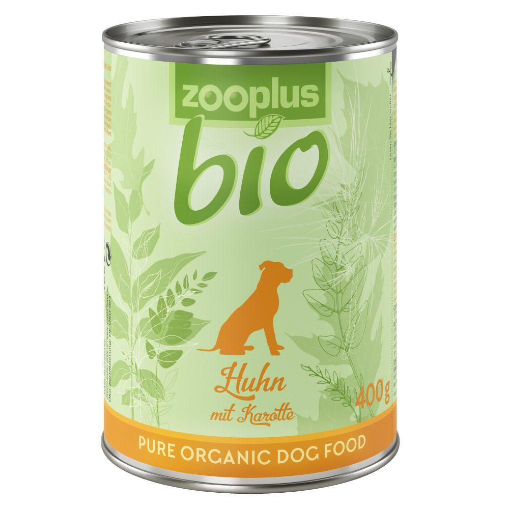 zooplus Bio Saver Pack 12 x 400g - Chicken with Carrot